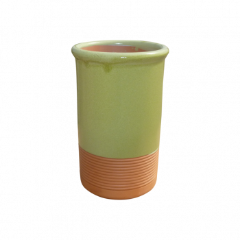 Brique à vin Vert pastel en terre cuite et céramique naturelle