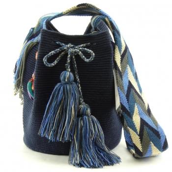 Mochila Wayuu Bleu