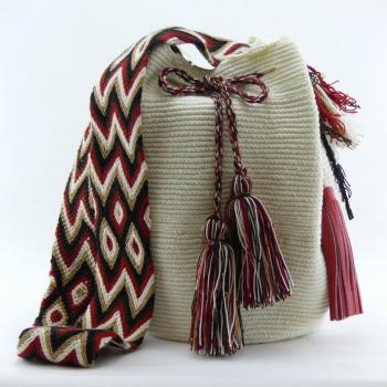 Mochila Wayuu Crême