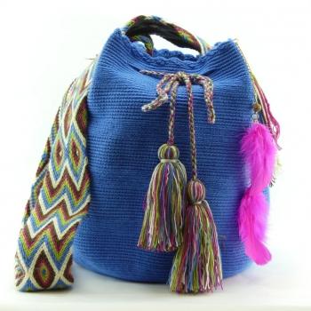 Mochila Wayuu Bleu Clair