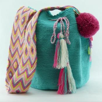 Mochila Wayuu Turquoise