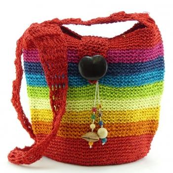 Sac en Agave multicolore