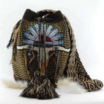 Mochila Wayuu Tête de Taureau