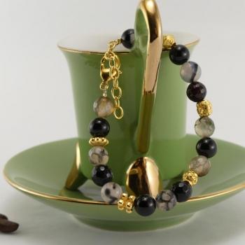 Bracelet Onyx et Jaspe