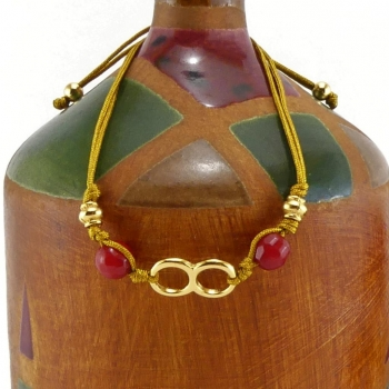 Bracelet fil jaune Sinu