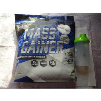 MASS GAINER  Vanille 5 KG + shaker 600ml. gratis