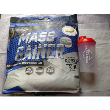 MASS GAINER Banane 5kg. + shaker 600ml. gratis