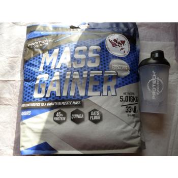 MASS GAINER Chocolat 5kg. + shaker 600ml. Gratis