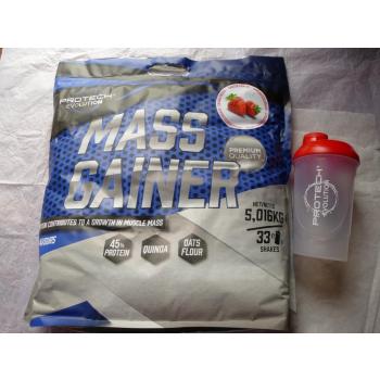 MASS GAINER Fraise 5kg.+ shaker 600ml.Gratis