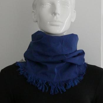 Le snood ou tour de cou Bucheron bleu jean - Homme