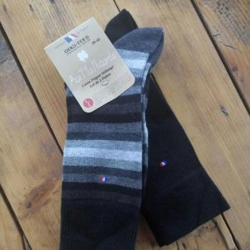 Lot de 2 paires de chaussettes coton (noir)