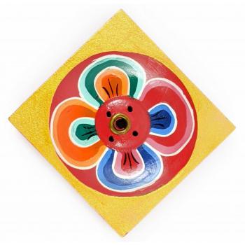 Porte-encens artisanal Tibetain Lotus carré