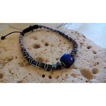 Bracelet lapis lazuli et hématites