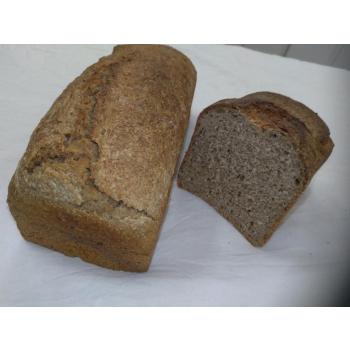 Pain au blé complet graines de courges t110 sur pur levain naturel de blé.