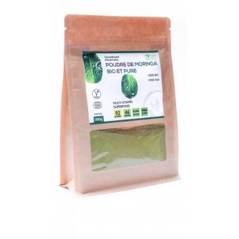 Poudre de feuilles de Moringa Bio certifiée Ecocert