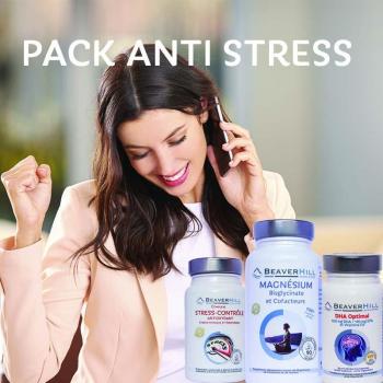 Pack Anti-Stress - Beaverhill Bien-être - Oméga 3 DHA, Compl. Stress-Contrôle, Magnésium & Cofacteurs