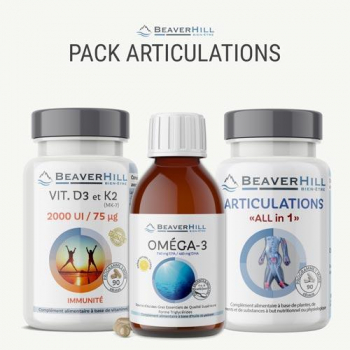 """Pack Articulations - Complexe Articulations """"ALL in 1"""", Oméga-3, Vitamines D3/K2"""