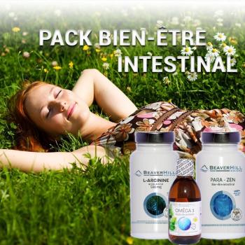 Pack Bien-être Intestinal - Beaverhill Bien-être - Oméga 3, L-Arginine 500 mg, Para-Zen