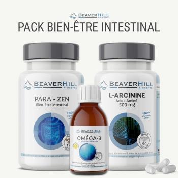 Pack Bien-être Intestinal - Oméga-3, L-Arginine 500 mg, Para-Zen