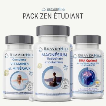 Pack ZEN Étudiant - Oméga-3, Magnésium et Cofacteurs, Vitamines et Minéraux