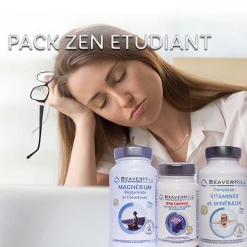 Pack ZEN Étudiant - Beaverhill Bien-être - Oméga 3 DHA, Vitamines & Minéraux, Magnésium & Cofacteurs