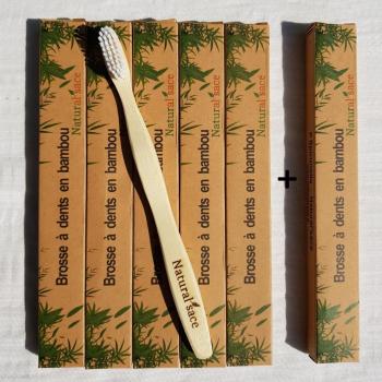 Pack économique de 6 brosses à dents en bambou