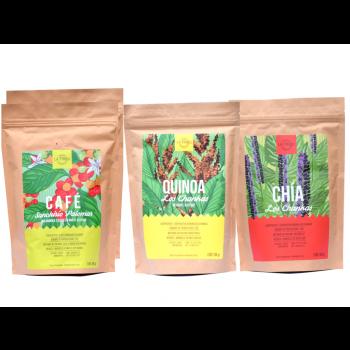Coffret Découverte : Café Moulu, Quinoa, Chia