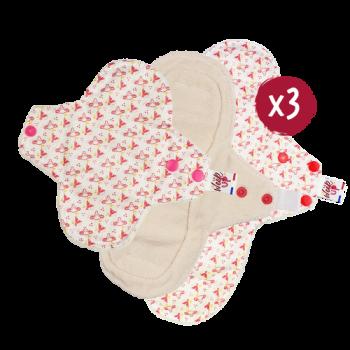 Pack découverte serviettes hygiéniques lavables « La Week'Up » I Flux max