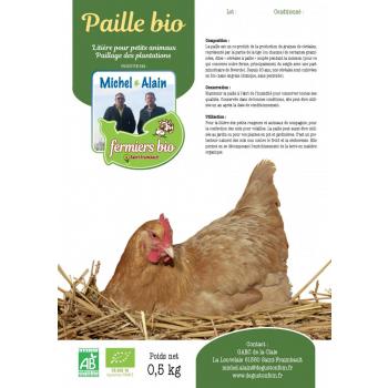 Paille bio carton 0,5 kg  (En raison des circonstances Covid max 5 colis / commande)