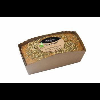 Pain d'épice aux Noisettes et graines de Chanvre bio 300g - Baramel