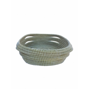 Corbeille carrée en fibres végétales (halfa)