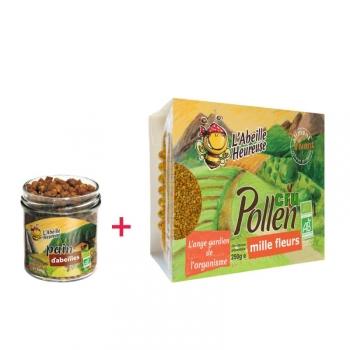 Paquet: Pain d'abeilles BIO 100 g + Pollen Cru Mille Fleurs Bio 250 g