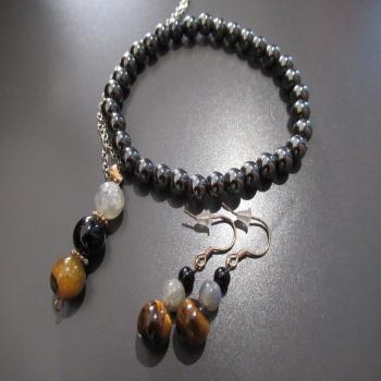 "Parure bijoux ""pierres de protection"""