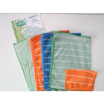 Micro fibre bambou - Lot de 5 + 1 éponge