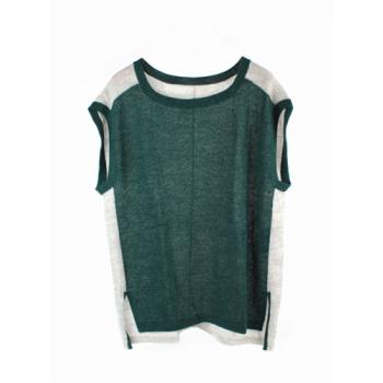 Poncho vert/gris
