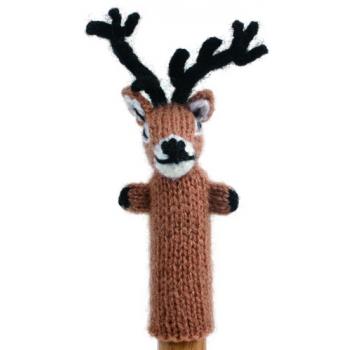 """Marionette tricotée """"cerf"""""""