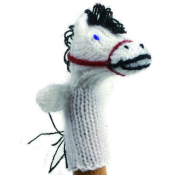"""Marionette tricotée """"cheval"""""""