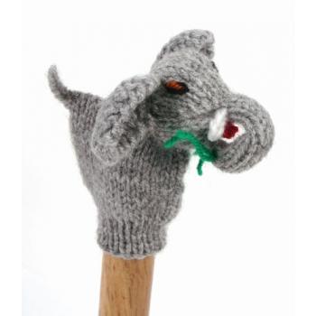 """Marionette tricotée """"eléphant"""""""