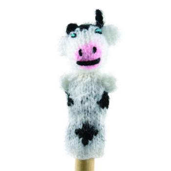 """Marionette tricotée """"vache"""""""