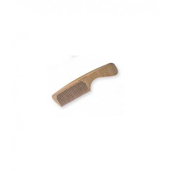 Peigne en bois à manche - Denture moyenne