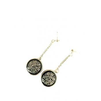 Pendants fleurs argent. Boucles d'oreilles artisanales en boutons anciens