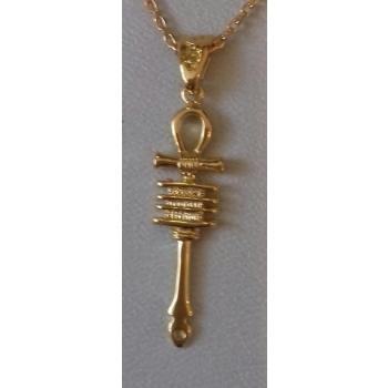 Pendentif croix de vie ou Ankh ancienne plaqué or