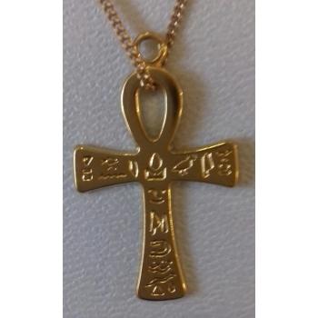 Pendentif croix de vie ou ankh récente plaqué or
