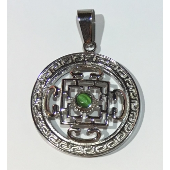 Pendentif Tibétain argenté 16 en 1
