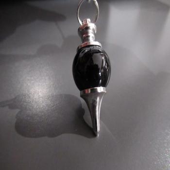Pendule Tera en obsidienne noire