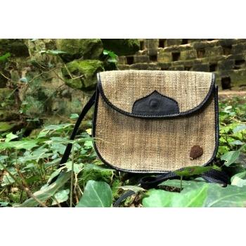 Petit sac à main femme à bandoulière en fibre d'ortie