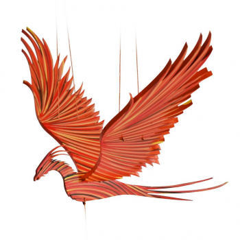 Mobile artisanal  phoenix  issu du commerce équitable
