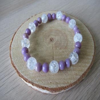 Bracelet en phosphosidérite et cristal de roche