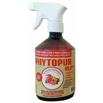 Solution lavante agrumes pistolet 500ml 100% naturel - PHYTOPUR