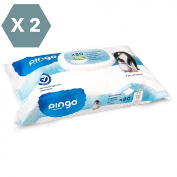PINGO Lingettes Ecologiques - Pack X 2 Soit 160 Lingettes